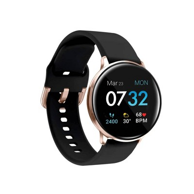 iTouch Sport Fitness Smartwatch - Rose Gold Case with Black Strap