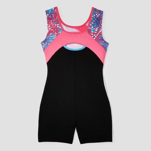 2bae799ea Freestyle By Danskin Toddler Girls  Gymnastics Biketard - Black   Target