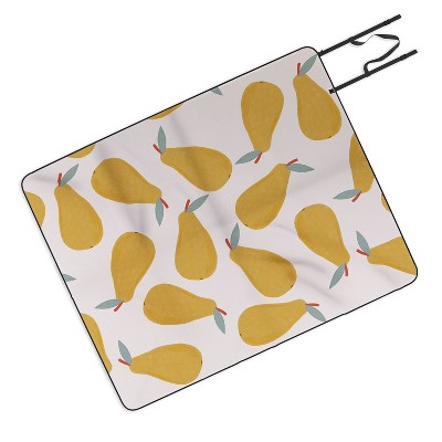 Hello Twiggs Yellow Pear Picnic Blanket - Deny Designs