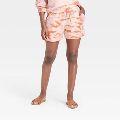 Women's Tie-Dye Lounge Shorts - Knox Rose™ Peach