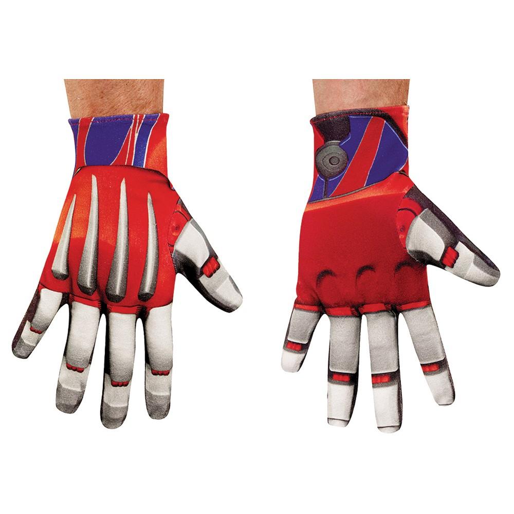 Optimus Prime Gloves Adult, Men's, Multi-Colored