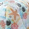 Geneva Home Fashion Queen 5pc Heritage Bay Belize Coastal Quilt & Sham Set Coral - image 2 of 4