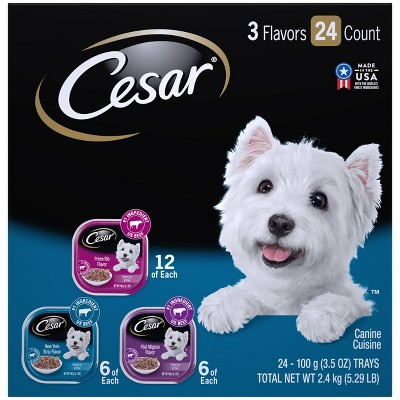 Cesar Filets In Gravy Wet Dog Food - 3.5oz/24ct Variety Pack