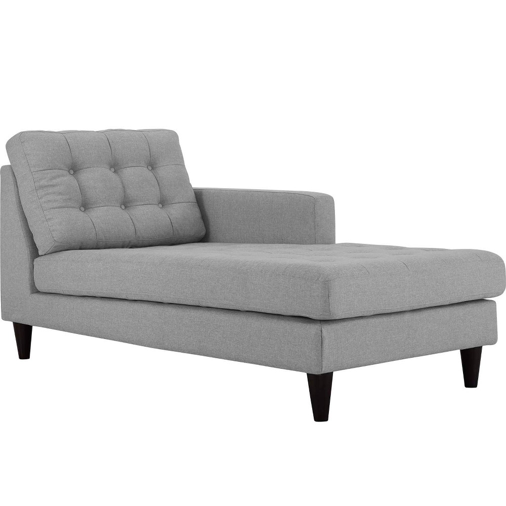 Empress RightArm Upholstered Fabric Chaise Light Gray - Modway