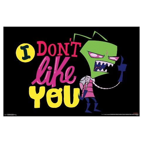invader zim i don t like you poster 34x22 trends international