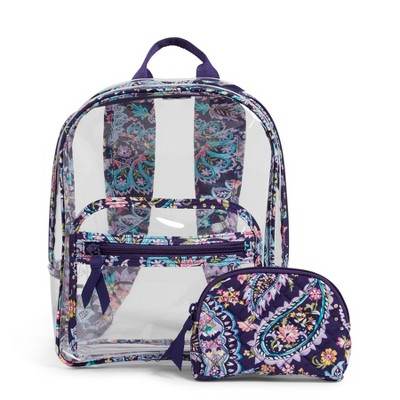 Vera Bradley Women's PVC Clearly Colorful Stadium Backpack Set