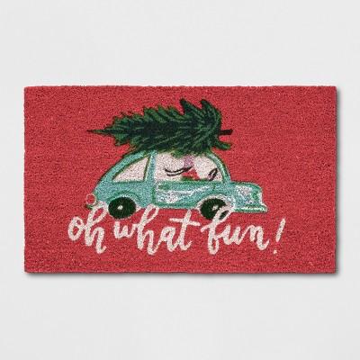 1'6 x2'6  Car Doormats Poinsettia - Opalhouse™