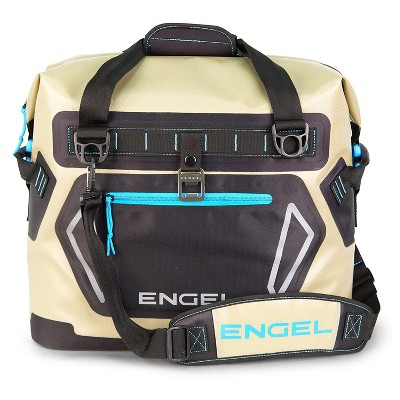 Engel Portable Waterproof Heavy-Duty Foam Insulated Soft-Sided Cooler Bag with Padded Adjustable Strap and Front Pocket, Blue