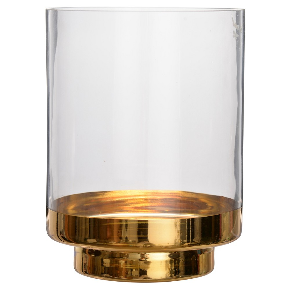 Glass Candle Holder - A&b Home, Bright Gold