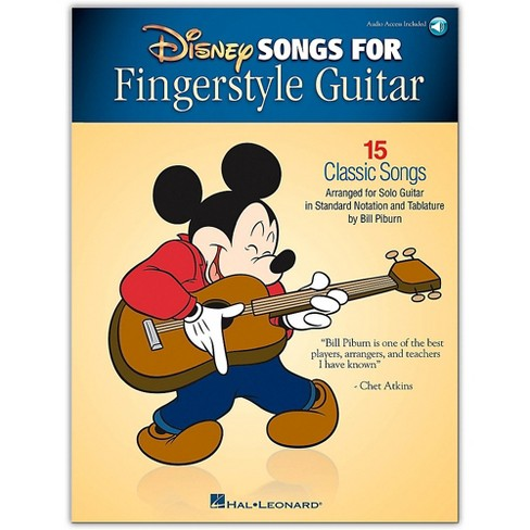 Hal Leonard Disney Songs for Fingerstyle Guitar Arranged for Guitar Solo Book/Audio Online - image 1 of 1