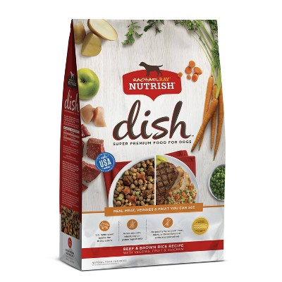 Rachael Ray Nutrish Dish Beef & Brown Rice Recipe Super Premium Dry Dog Food