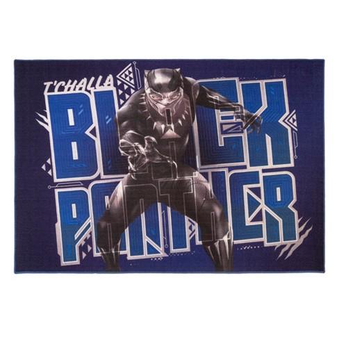 Marvel Black Panther 46x66 Rug Black Target