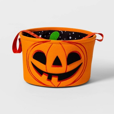 Pumpkin Fabric Halloween Candy Basket Orange   Hyde & Eek! Boutique™ by Shop This Collection