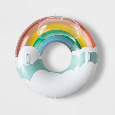Rainbow Tube With Pillow Water Float - Sun Squad™