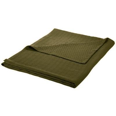 All-Season Cotton Diamond-Weave Blanket - Blue Nile Mills