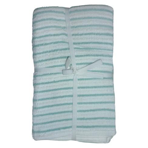 """Caribbean Aqua Stripe Bar Mop Dish Cloth (16""""X18"""" , 4 Pk) - Room Essentials™ - image 1 of 1"""