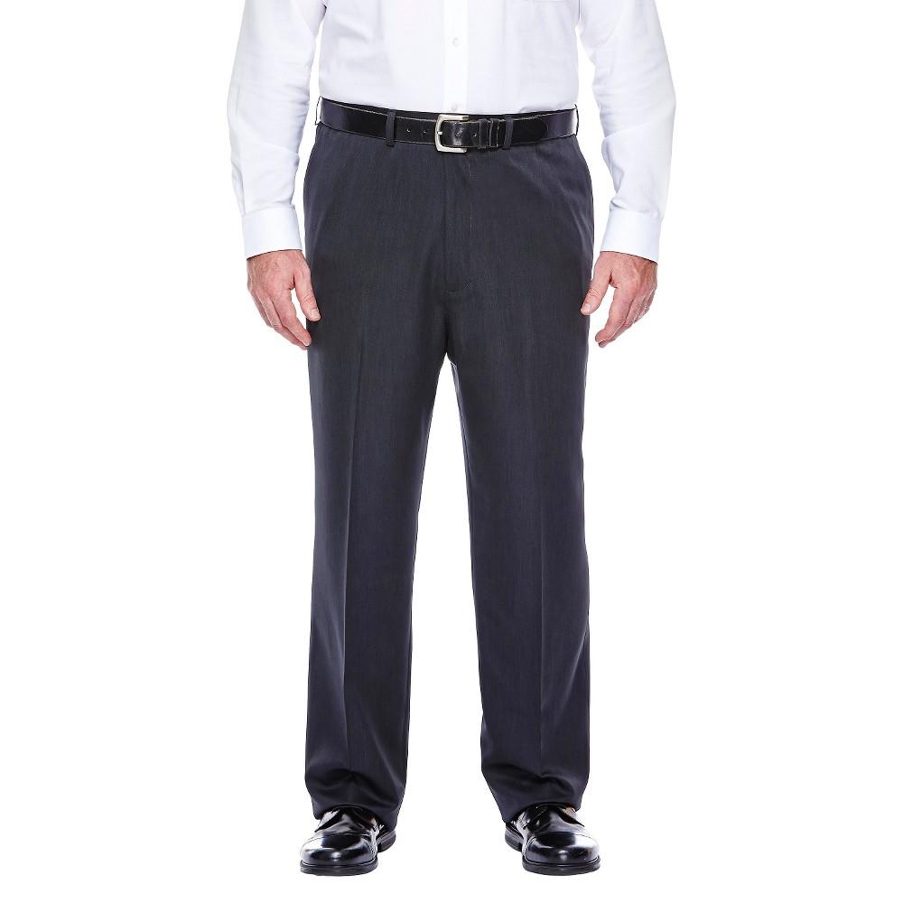 Haggar H26 - Men's Big & Tall Classic Fit Performance Pants Charcoal Heather 48x32