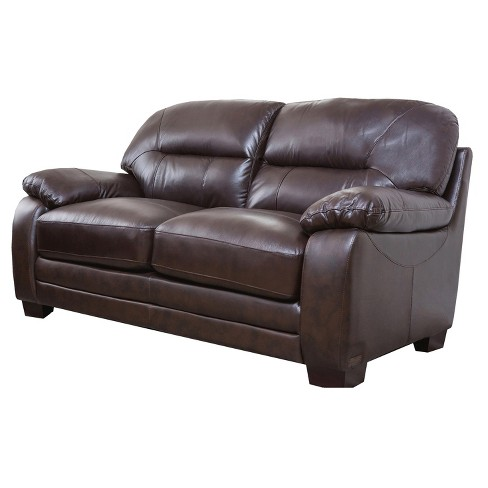 Hemsworth Leather Loveseat - Abbyson Living - image 1 of 3