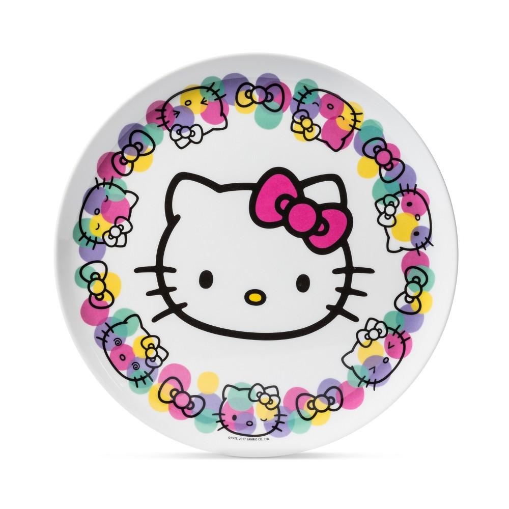 Hello Kitty Sanrio Melamine Plate 10 Pink/Black