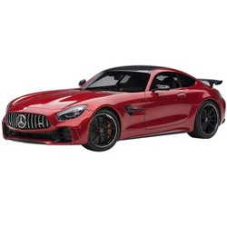Mercedes AMG GT R AMG Designo Cardinal Red Metallic with Carbon Top 1/18 Model Car by Autoart