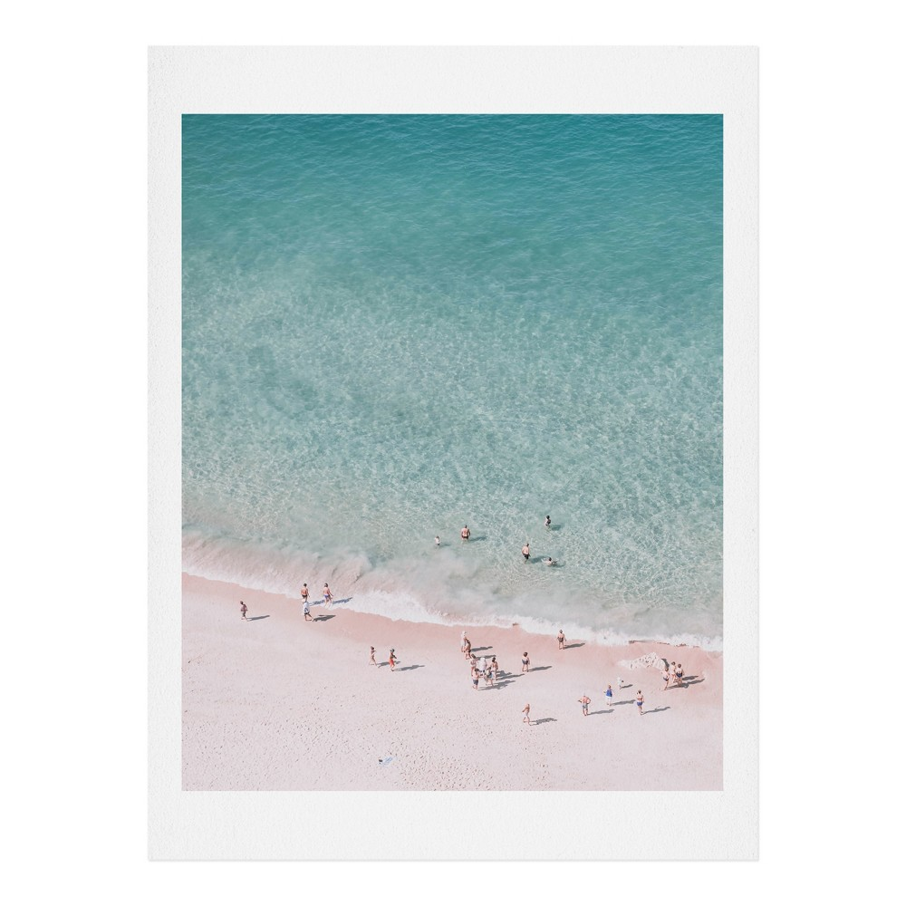 "Image of ""16"""" x 20"""" Ingrid Beddoes Beach Summer Days Wall Art Print Blue - society6"""