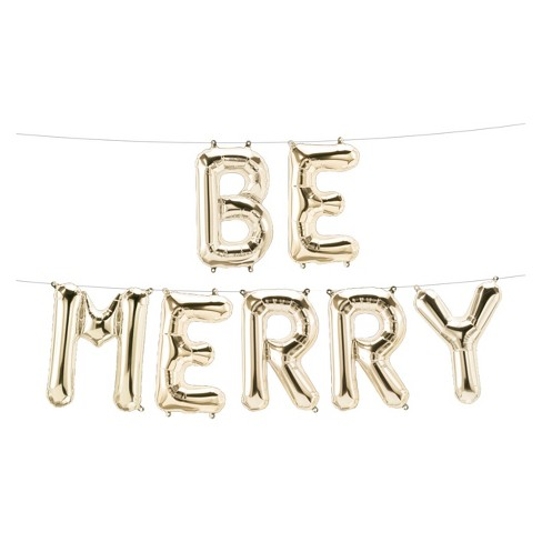 Be Merry Gold Balloon Hanging Sign - Wondershop™ - image 1 of 1