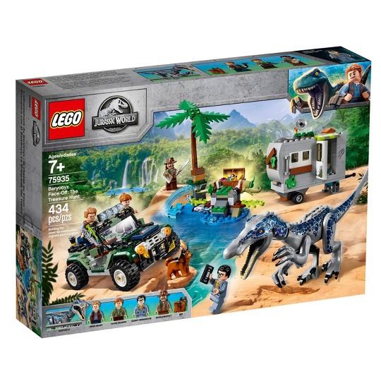 LEGO Jurassic World Baryonyx Face-Off: The Treasure Hunt 75935 Toy Dinosaur Building Kit 434pc image number null