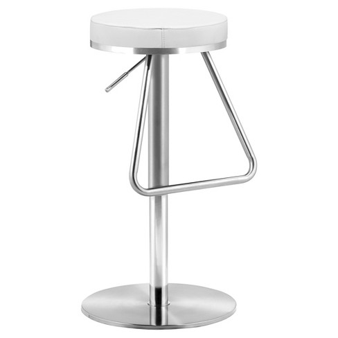 "Nostalgic Plush Adjustable 22"" Barstool - White - ZM Home - image 1 of 1"