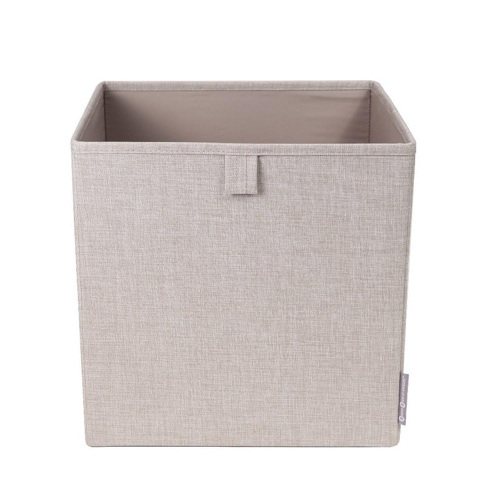 Image of Cube Storage Bin Knock Down Beige - Bigso Box of Sweden