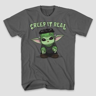 Men's Star Wars The Child Frankenstein Short Sleeve Graphic T-Shirt - Charcoal Gray