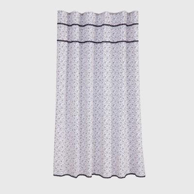 Floral Printed Shower Curtain Black - Threshold™