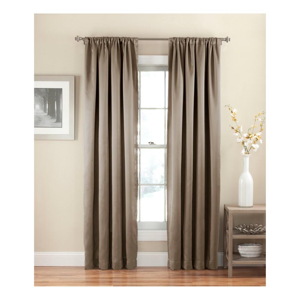 Solid Thermapanel Room Darkening Curtain Mushroom (Brown) 54X63 - Eclipse