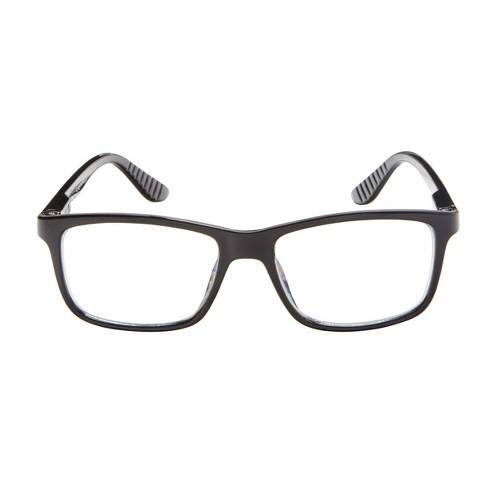 e3abe597be ICU Eyewear Screen Vision Blue Light Blocker Rectangle Black Large Glasses    Target