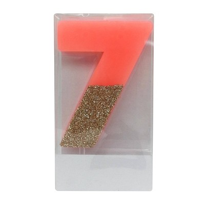 Number 7 Glitter Candle - Spritz™