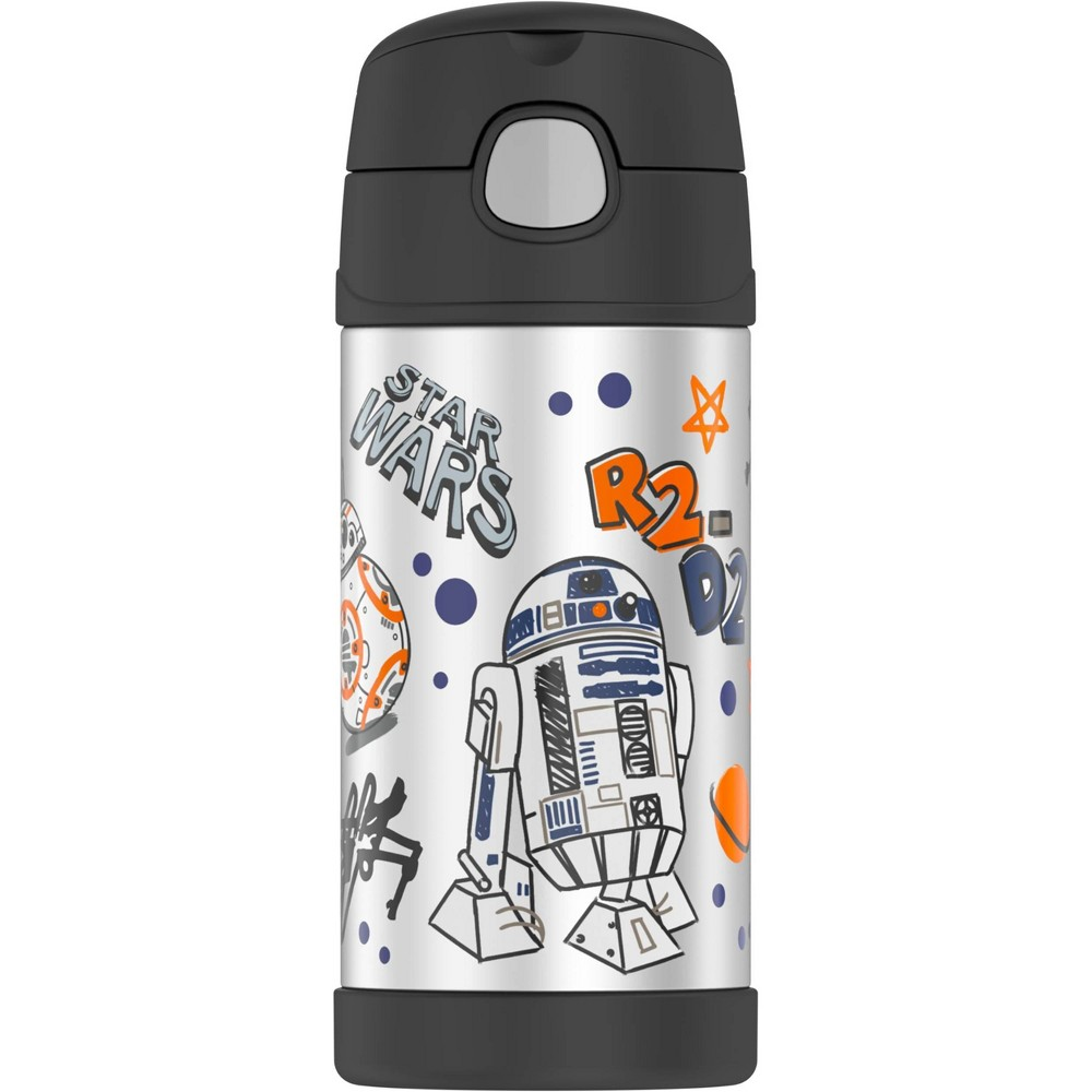 Image of Thermos 12oz Star Wars FUNtainer Water Bottle - Black