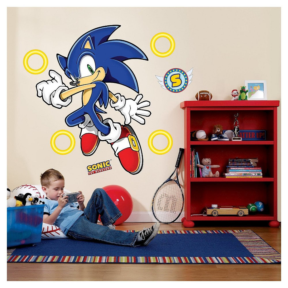 Sonic the Hedgehog Giant Wall Decals, Multi-Colored
