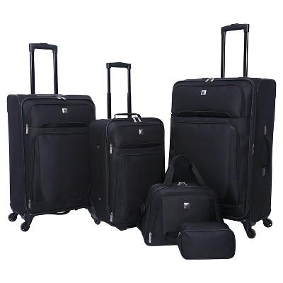 Skyline 5pc Softside Luggage Set - Black
