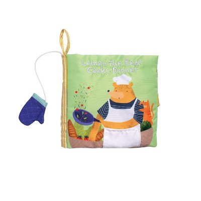 Manhattan Toy Lemon The Bear Cooks Dinner Soft Book, Ages 6 Months and up