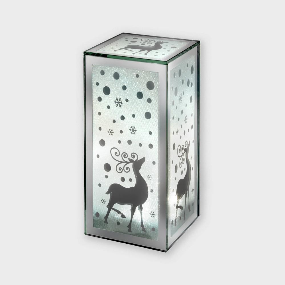 "Image of ""9"""" Lit Glass Lantern Decorative Figurine - Haute Decor"""