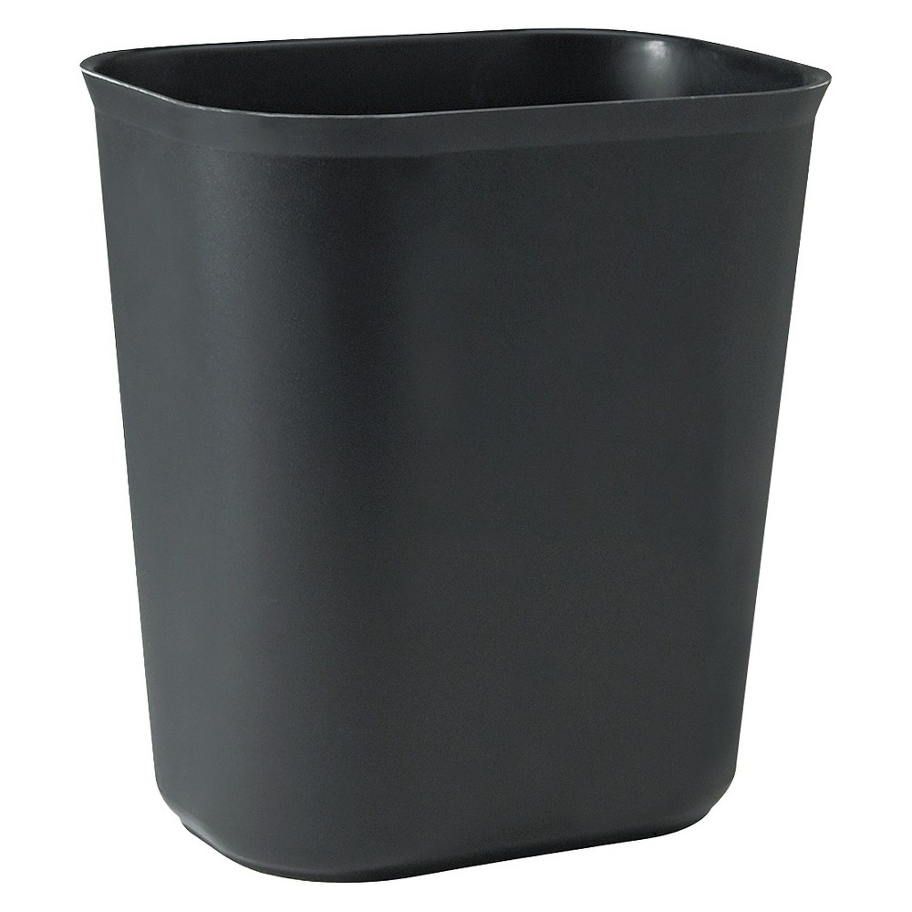 Image of Rubbermaid 3.5 Gallon No-lid Trash Can - Black