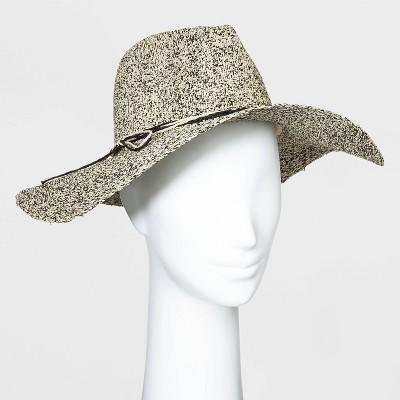 Women's Straw Wide Brim Fedora Hats - Universal Thread™ One Size