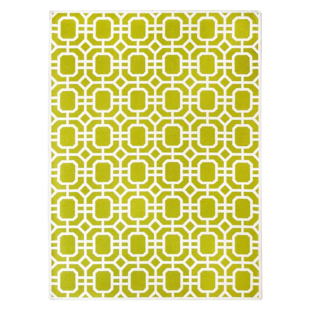 Lime Green Indoor/Outdoor Flatweave Area Rug (4'X6') - Threshold