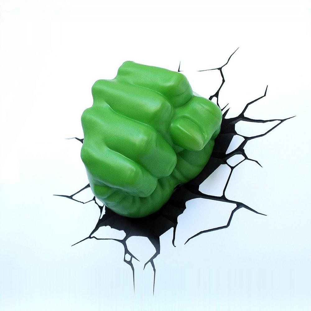 Marvel 3D Wall Night Led Light - Hulk Hand, Green