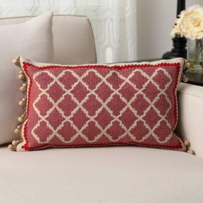 """12""""x20"""" Oversize Marrakesh Lumbar Throw Pillow Brown - Sure Fit"""