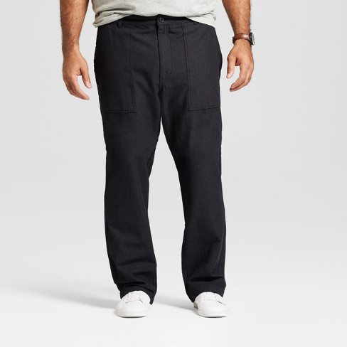 Men's Tall Straight Fit Utility Cargo Pants - Goodfellow & Co™ Black - image 1 of 3