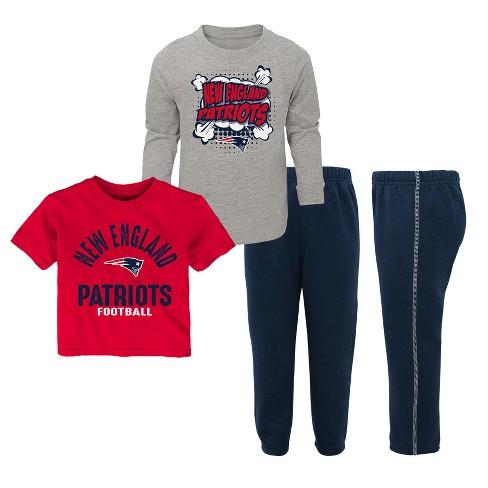 700294b6c NFL New England Patriots Toddler Gametime Fun 3pk Shirt  Pants Set ...
