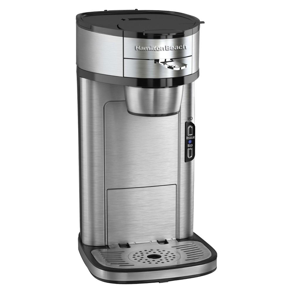 Hamilton Beach Scoop 14 Oz Single Serve Coffee Maker Silver 49981