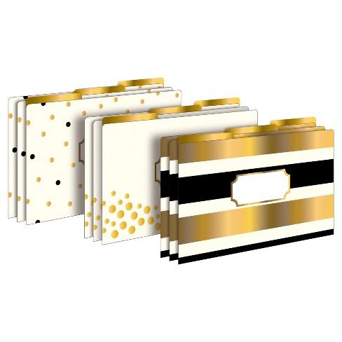 "Barker Creek File Folders, 9.5"" x 14.8"", 9ct - 24k Gold with Gold Foil! - image 1 of 4"