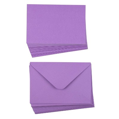 Sustainable Greetings 48-Pack Plain Purple Greeting Cards and Envelopes for All Occasions (4 x 6 Inches)