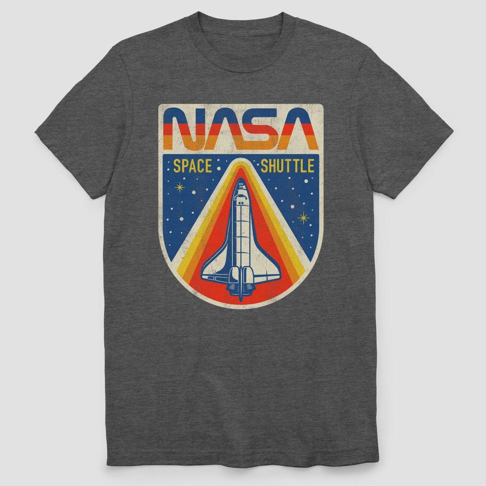 Men's Nasa Vintage Short Sleeve T-Shirt - Charcoal Heather S, Gray